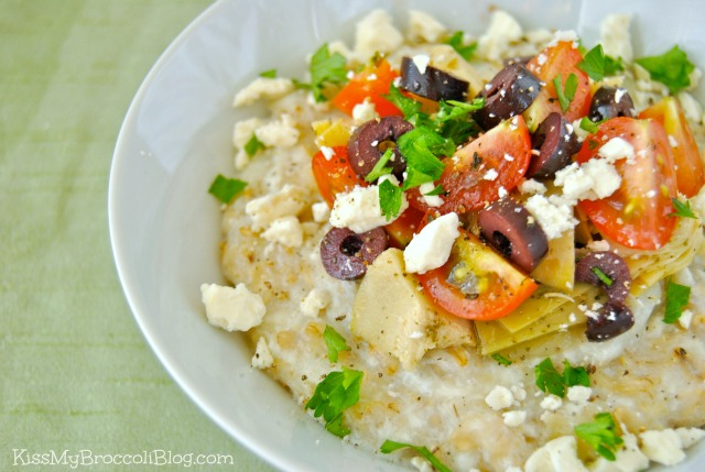Savory Greek Style Egg White Oats 3