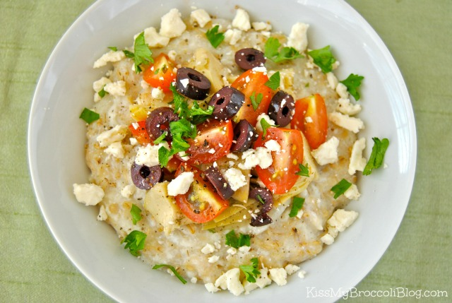 Savory Greek Style Egg White Oats