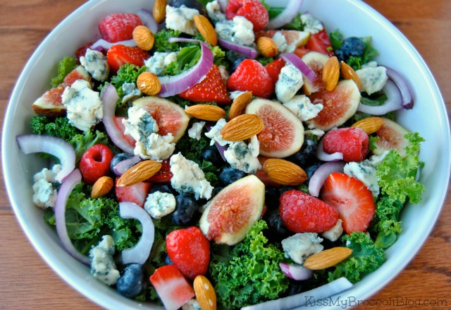 Summertime Bleu Salad via Kiss My Broccoli