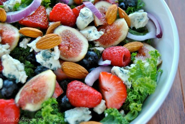 Summertime Bleu Salad with Almonds  Kiss My Broccoli