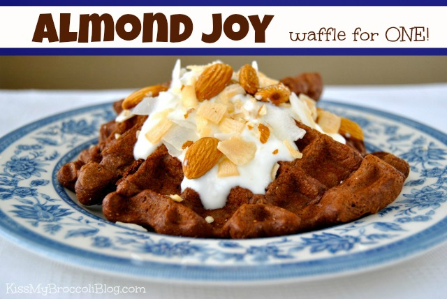Almond Joy Waffle from www.kissmybroccoliblog.com