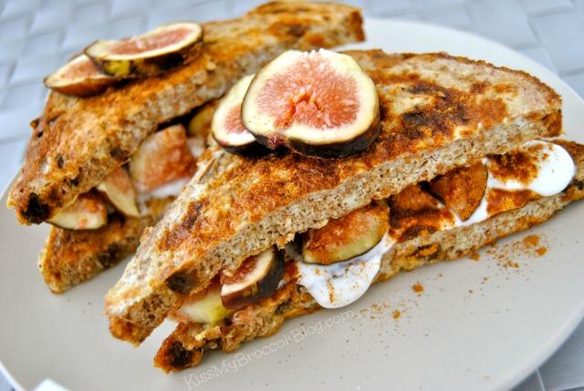 Coconut & Fig Stuffed French Toast from www.kissmybroccoliblog.com