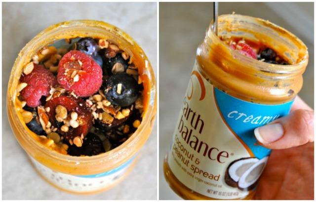 Coconut Peanut Butter Yogurt in a Jar (YIAJ)