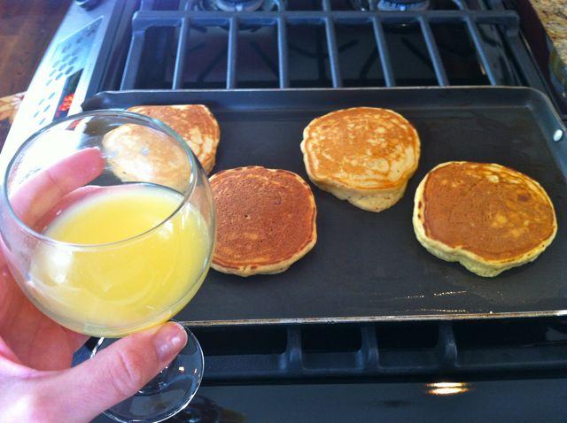 Pancakes & Mimosa
