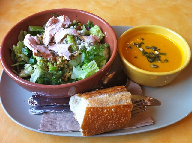 Panera Bread Harvest Wheatberry Salad & Autumn Squash Soup