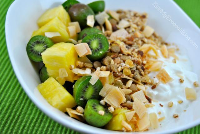 Pina Colada Yogurt Bowl with Kiwi Berries