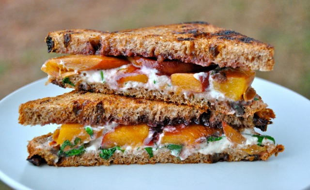 Blackberry Peach Grilled Goat Cheese
