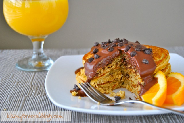 Chocolate Covered Orange Pancakes www.kissmybroccoliblog.com