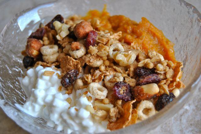 Cottage Cheese + Pumpkin + Grail Mix