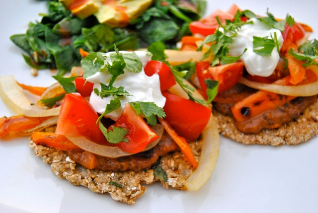 Lentil Taco with Oat Flatbread