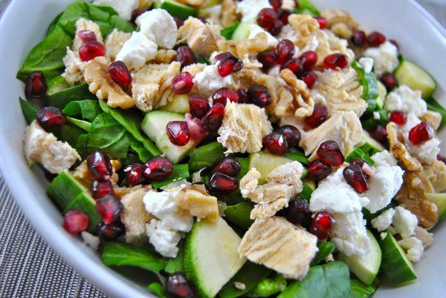 Pomegranate Goat Cheese Salad