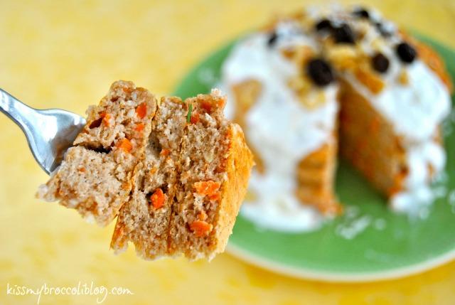 Super Fluffy Carrot Cake Protein Pancakes via www.kissmybroccoliblog.com