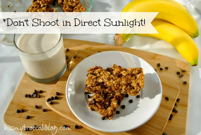 Food Styling Photography Tips - Don't Shoot in Direct Sunlight