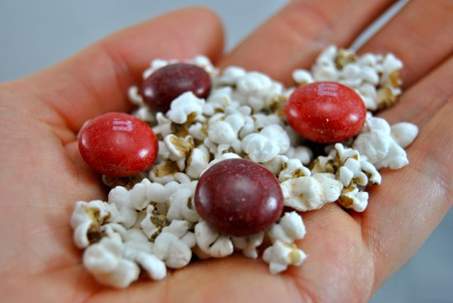 Mini Pops and Cherry M&M's