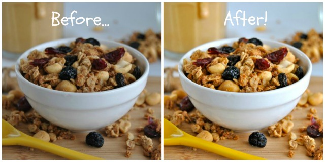 PB&J Granola BeforeAfter