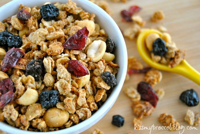 PB&J Granola - The perfectly sweet (and salty) treat! www.kissmybroccoliblog.com