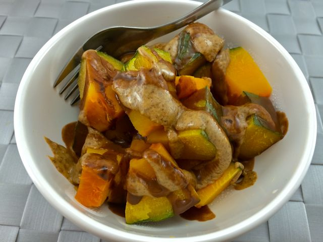 Kabocha with Almond & Coconut Butter
