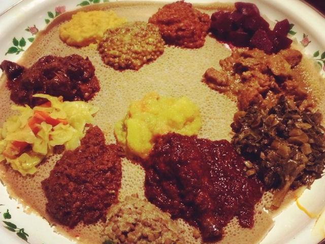 Mesob Ethiopian Sampler