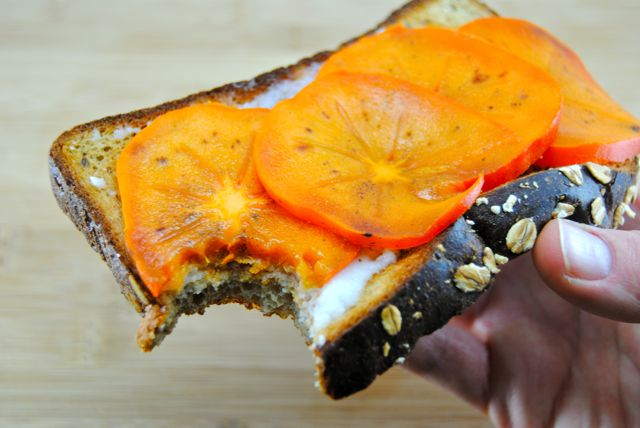 P28 Bread with Coconut Butter & Persimmon