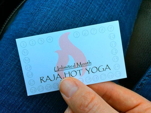 Raja Hot Yoga Month
