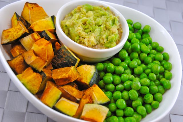 Peas & Kabocha with Avocado