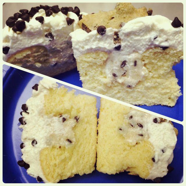 Cookie Dough Cupcake - Inside