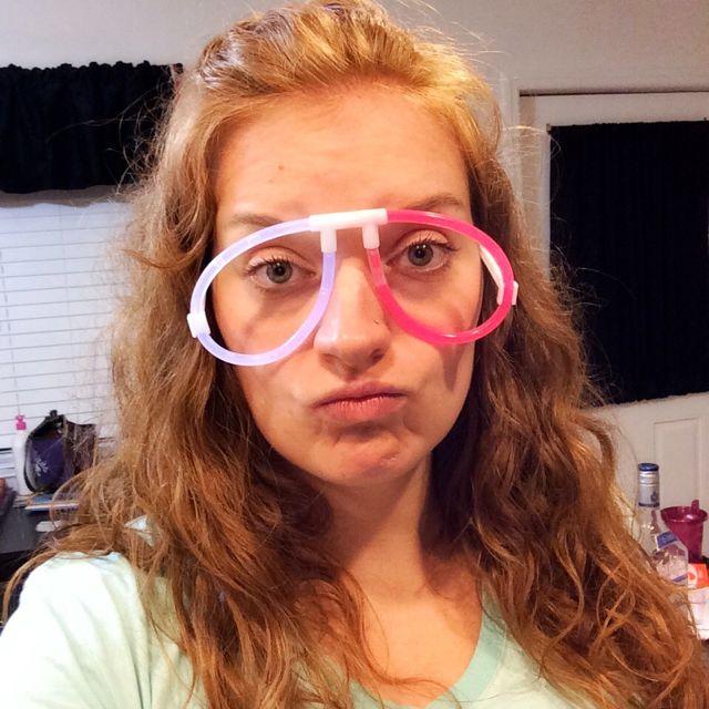 Glowstick Glasses Selfie