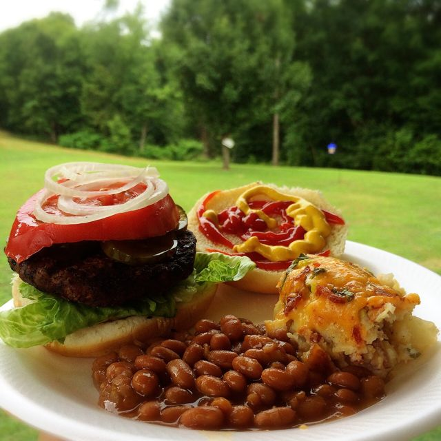 Grilling Out - Burger Beans & Potato Salad