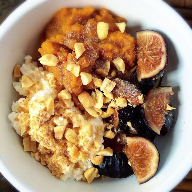 Cottage Cheese, Pumpkin, Figs & Peanuts