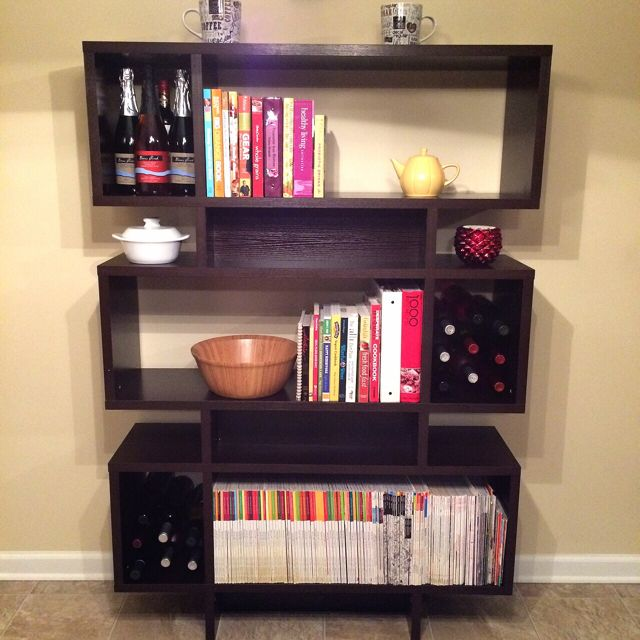 Bookcase with Cookbooks
