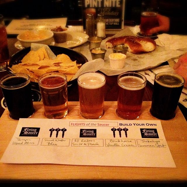 Flying Saucer Beer Flight