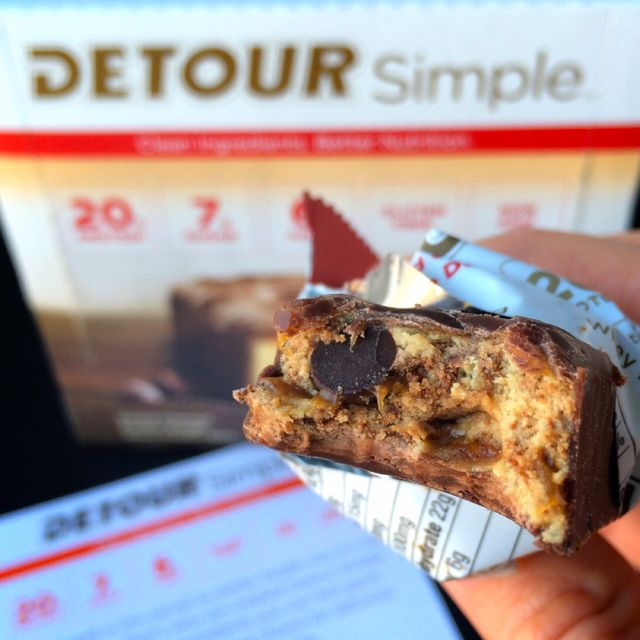 Detour Simple Salted Caramel Cookie Dough Bar