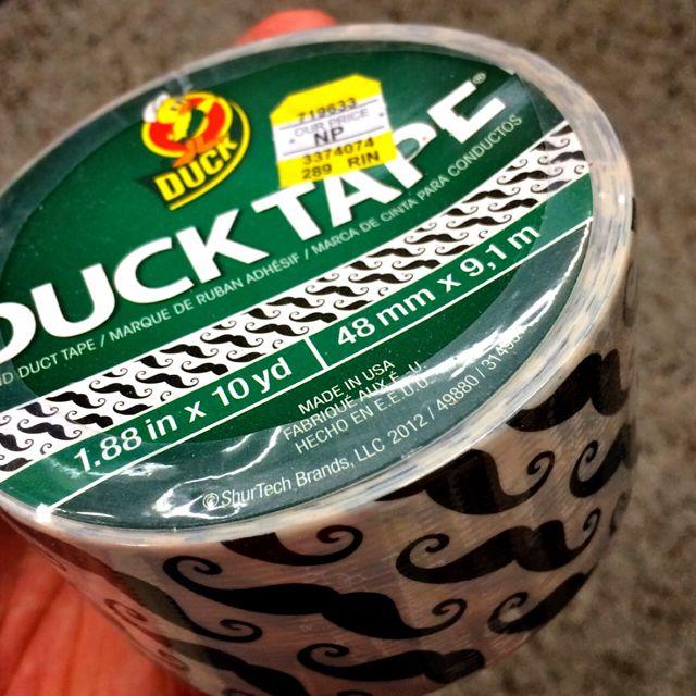 Mustache Duck Tape