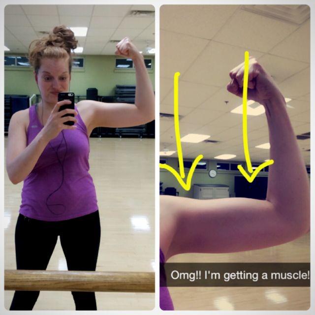 Gym Selfie - Baby Muscles