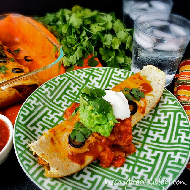 Happy Cinco de Mayo! Celebrate by serving up some Sneaky Veggie Enchiladas for dinner and get even your pickiest eaters to eat their veggies! www.kissmybroccoliblog.com