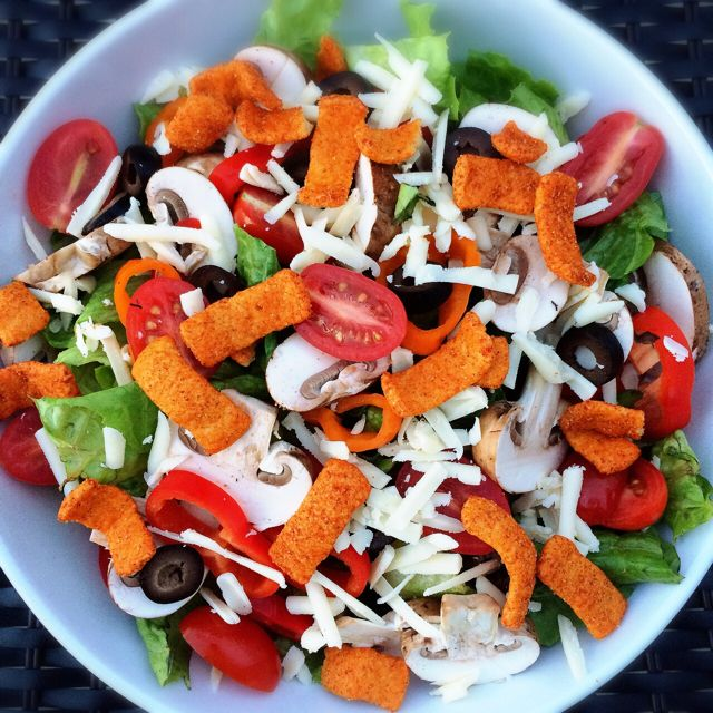 Salad with Protein Chips