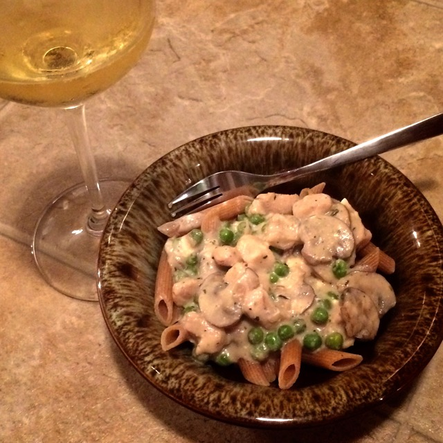 Chicken Dish & Wine