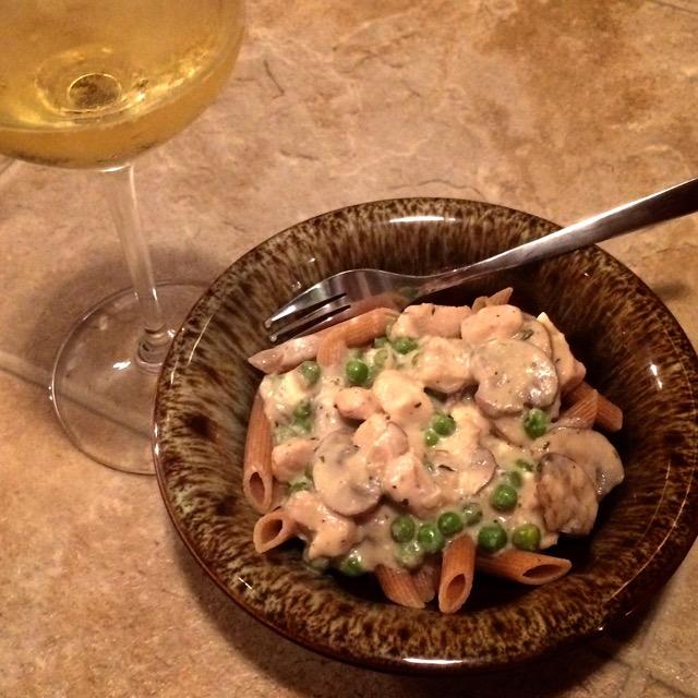 Chicken Dish & Wine