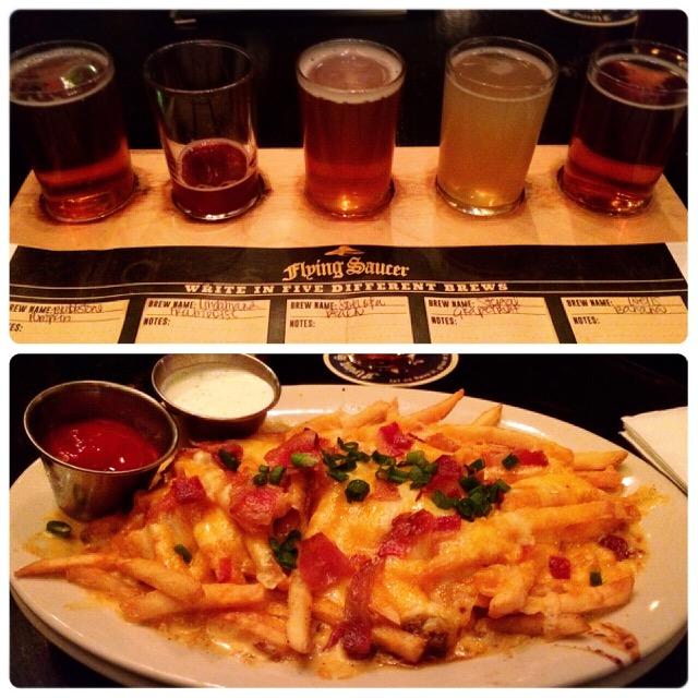 Flying Saucer - Beer Flight & Fries