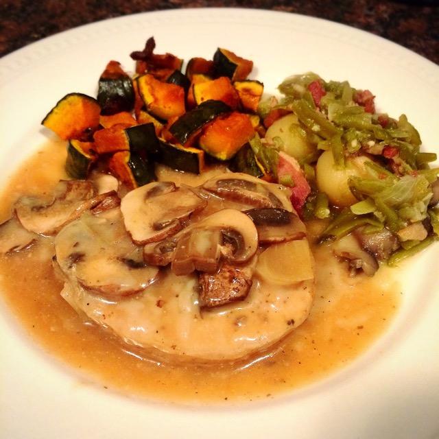 Pork Chops in Mushroom Wine Sauce